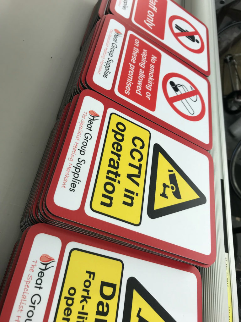 Bespoke health and safety signage