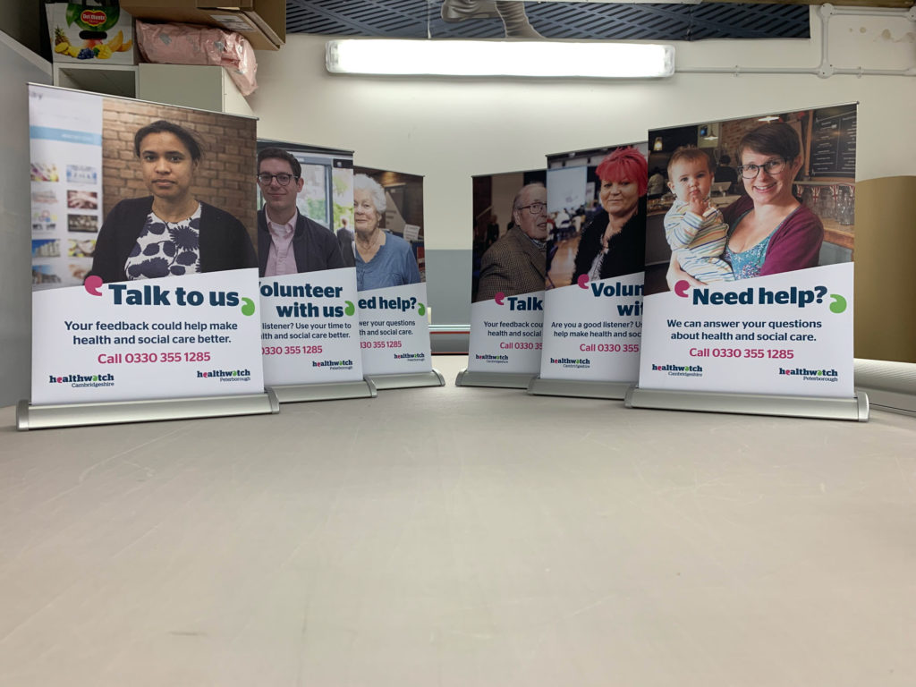 Table Top Roller Banner Stands