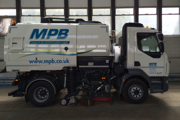 Road sweeper vehicle graphics