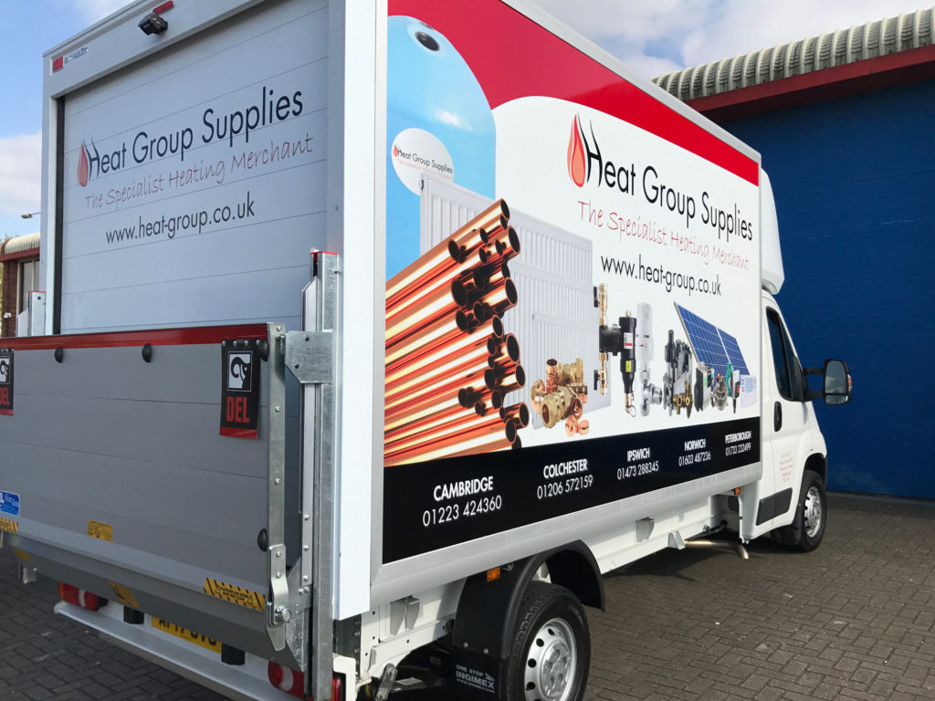 Luton van vehicle graphics